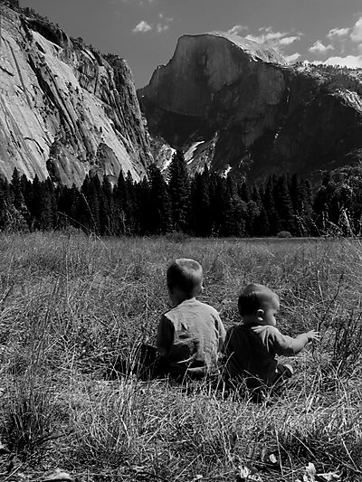 Boys yosemite bw